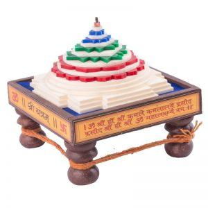 Shri Yantra Chowki at wood by Pandit NM Shrimali
