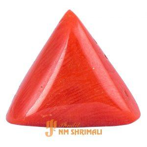 Buy Online Triangle Moonga Stone at panditnmshrimali.com